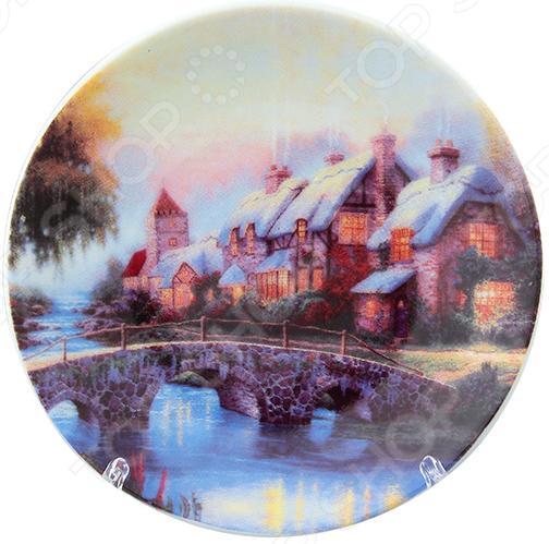 Тарелка декоративная Elan Gallery «Домик у озера» тихвин коттедж у озера