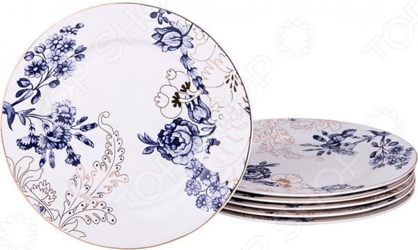 Набор десертных тарелок Lefard «Цветы»