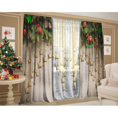 Купить Комплект: шторы и тюль ТамиТекс «Звездный запах хвои»