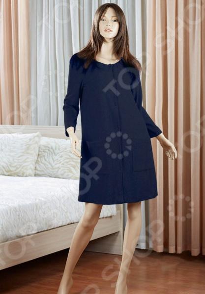 Платье домашнее Primavelle Susanna. Цвет: темно-синий платье oodji ultra цвет темно синий 14001071 9 46148 7900p размер s 44