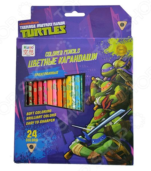 Набор цветных карандашей Kuso К10008 «Черепашки-ниндзя»