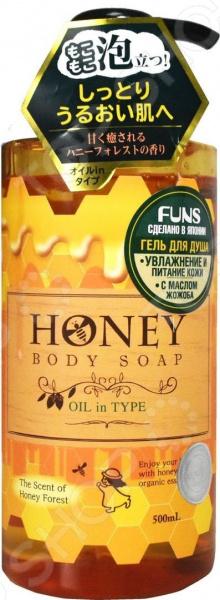 Гель для душа FUNS Honey Oil с экстрактом меда и маслом жожоба гели llang универсальный гель с экстрактом рапсового меда on the skin soothing gel canola honey