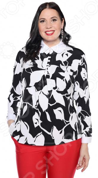 Блуза VEAS «Вечерний шепот». Цвет: черно-белый