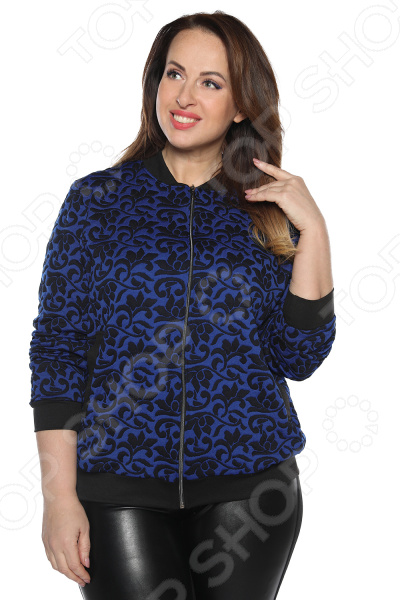 Бомбер Pretty Woman «Прекрасное настроение». Цвет: васильковый бомбер printio мода 2017