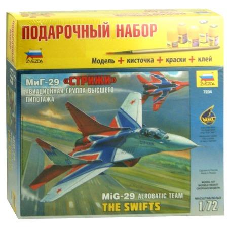 Купить Подарочный набор сборной модели самолета Звезда «МиГ-29. Стрижи»