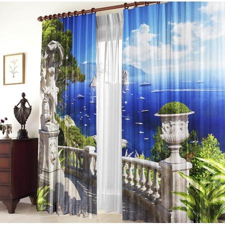 Купить Комплект фотоштор ТамиТекс «Морской пейзаж»