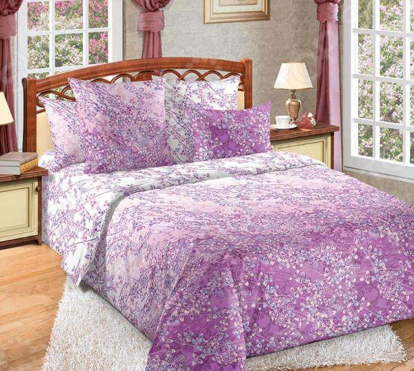Комплект постельного белья Королевское Искушение «Дыхание весны». Цвет: сиреневый раскраска антистресс дыхание весны bondibon 24 дизайна