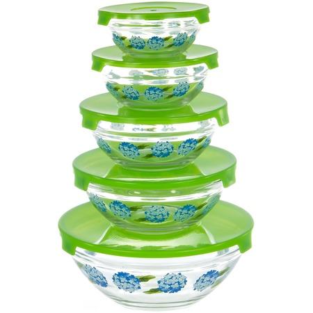 Купить Набор салатников OlAff «Голубые цветы»