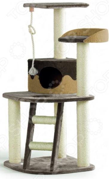 Комплекс для кошек угловой с полками, лестницей и канатом Beeztees 405770 комплекс для кошек угловой с полками лестницей и канатом beeztees 405770