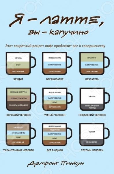 Это книга о людях, руководство по верному пониманию себя и других. Человеческая жизнь подобна чашке кофе из различных ингредиентов. Чтобы кофе стал крепким и ароматным, он должен пройти через множество стадий приготовления, и только тогда он достигнет наилучшего вкуса. Рецепт такого кофе способен изменить жизнь миллионов людей и в том числе вашу.