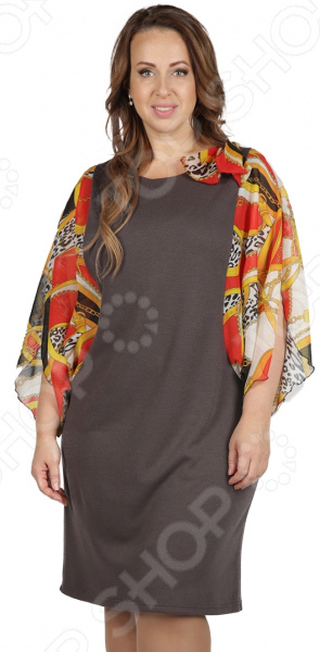 Платье СВМ-ПРИНТ «Цезария». Цвет: коричневый, красный свм принт марьяна цвет красный