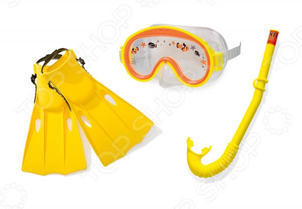 Набор для плавания: маска, трубка, ласты Intex «Приключения» стоимость