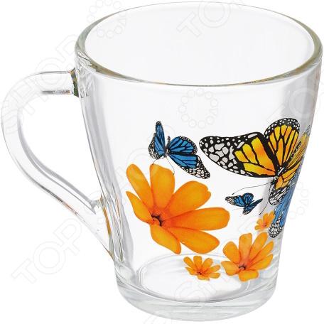 Кружка Luminarc «Бабочки и оранжевые цветы»