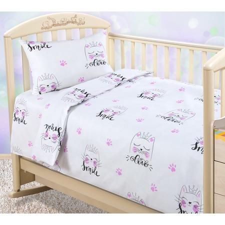 Купить Ясельный комплект постельного белья ТексДизайн «Китти»