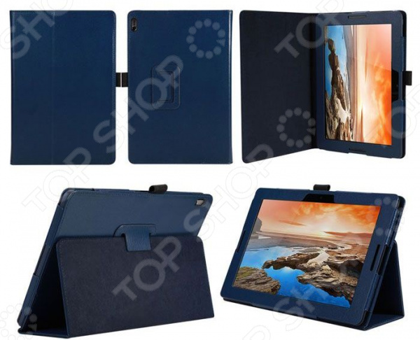 Чехол для планшета IT Baggage для Lenovo IdeaTab A10-70/A7600 10 ultra slim 4 folder bussiness stand pu leather cover case for lenovo ideatab a7600 a7600 f a7600 h a10 70 a10 80 a10 80hc tablet