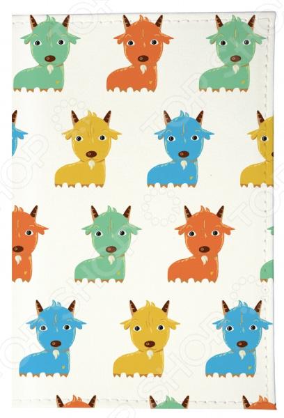 где купить Обложка для автодокументов Mitya Veselkov «Цветные козлята» дешево