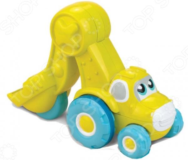 Экскаватор игрушечный HAP-P-KID «Нажми и поедет» игрушки для ванны hap p kid игрушка для ванной со световым эффектом крабик