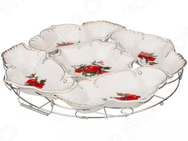 Менажница Lefard «Гранаты» 388-515 менажница porcelain manufacturing factory 388 097