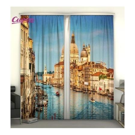 Купить Фотошторы Сирень «Гранд-канал в Венеции»