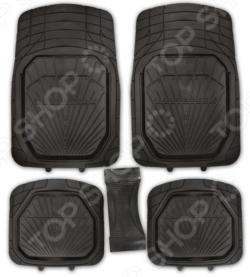 Комплект из 5-ти ковриков в салон автомобиля SKYWAY Rain-3 «Ванночка»