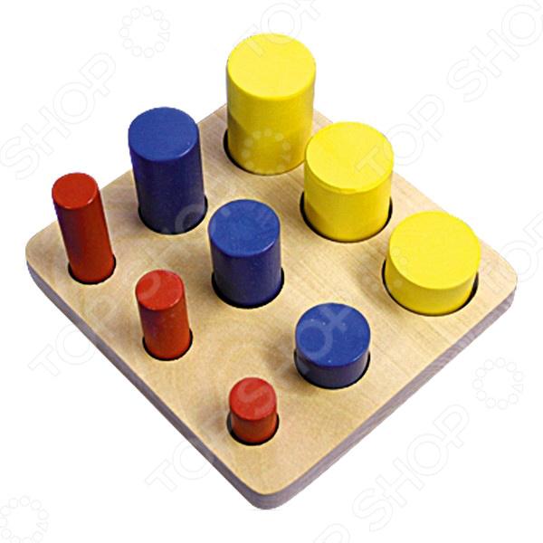Игрушка развивающая RNToys «Цилиндры втыкалки 3 ряда»