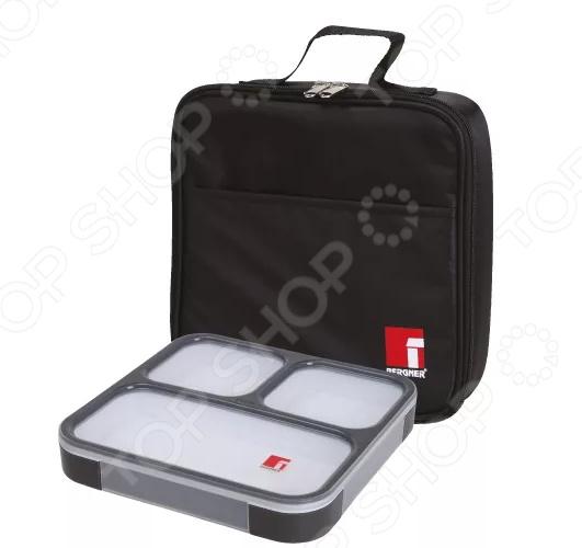 Контейнер для ланча в сумке Bergner BG-5756 BK