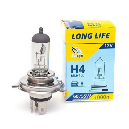 Автолампа галогенная ClearLight LongLife H4 12V-60/55W