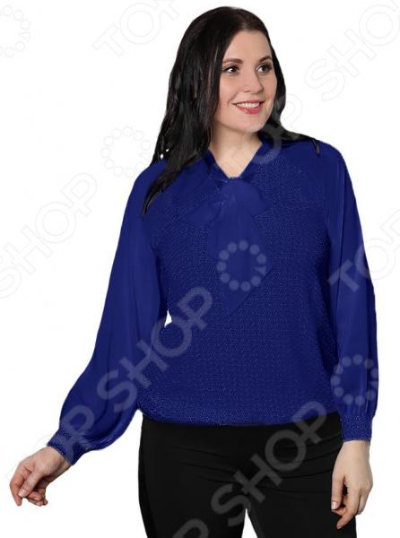 Блуза Blagof «Пелагея». Цвет: темно-синий блуза blagof блуза мерси цвет персиковый