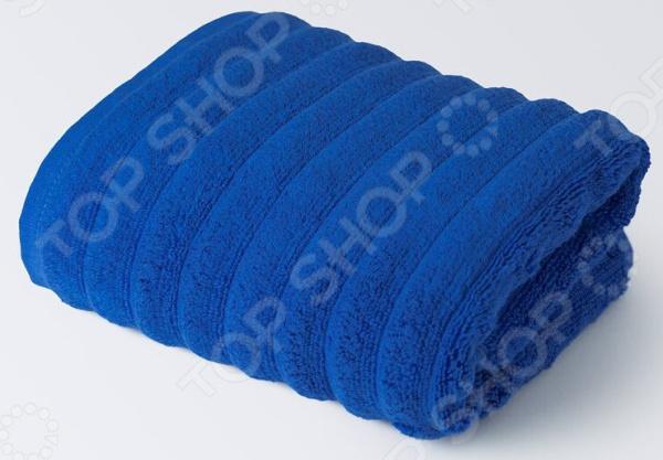 Полотенце махровое Ecotex «Лайфстайл». Цвет: синий