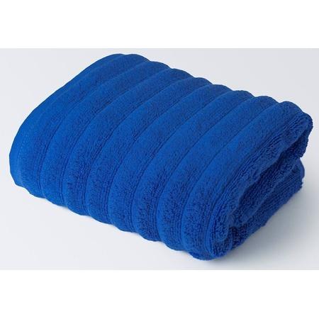Купить Полотенце махровое Ecotex «Лайфстайл». Цвет: синий