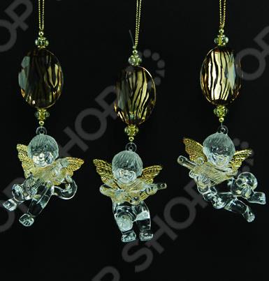Новогоднее украшение Crystal Deco «Ангелочек». В ассортименте