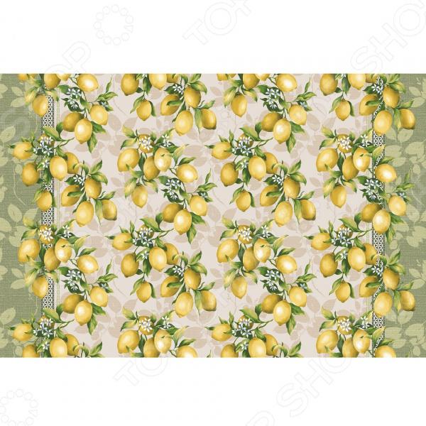 Полотенце банное вафельное ТексДизайн «Лимоны»