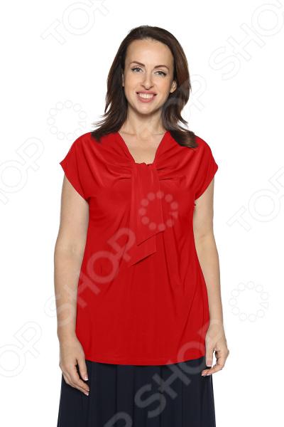 Блуза VEAS «Строгий лоск». Цвет: красный