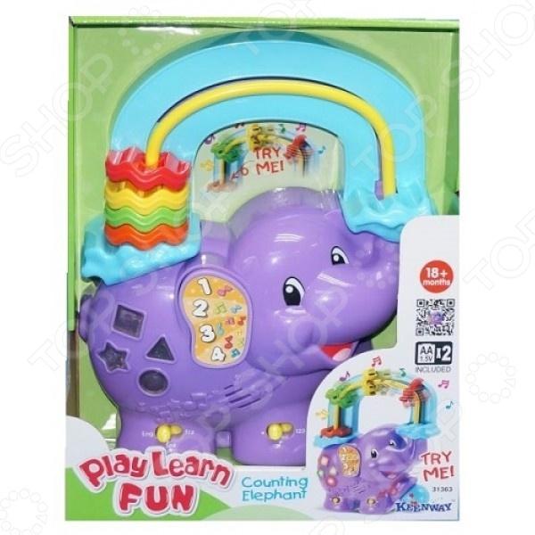 Игрушка развивающая для малыша Keenway музыкальная «Веселый слоник» музыкальная развивающая игрушка розумне цуценя в харькове