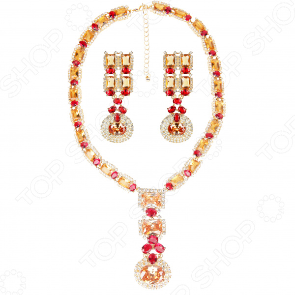 Ожерелье и серьги Laura Amatti «Мерцание роскоши»