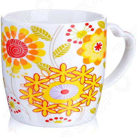 Кружка Loraine LR-21549-2 «Цветы» кружка loraine цветы lr 24474 зеленый 320 мл