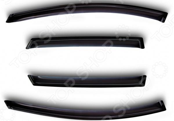Дефлекторы окон Novline-Autofamily Lada (ВАЗ) Priora 2012 хэтчбек, седан