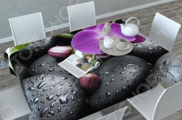 Фотоскатерть Сирень «Орхидея на камнях»