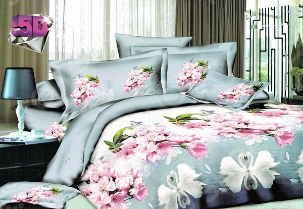 Комплект постельного белья с эффектом 5D «Нисан» BL7844. Евро