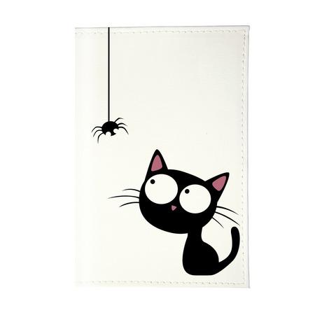 Купить Обложка для паспорта Mitya Veselkov «Кошка и паучок» OZAM430