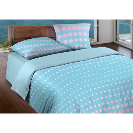 Купить Комплект постельного белья Wenge Dot. 1,5-спальный. Цвет: розовый, небесно-голубой