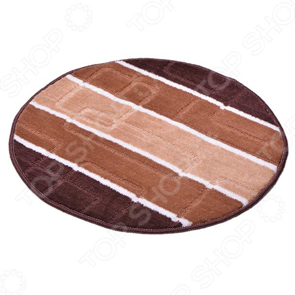 Коврик круглый для ванной Dasch «Авангард» коврик для ванной комнаты dasch авангард цвет коричневый 50 х 80 см