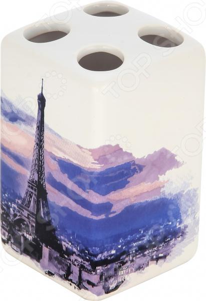 Держатель для зубных щеток Рыжий кот «Париж»