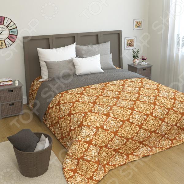 Покрывало стеганое Сирень «Дриана» желтое покрывало на кровать