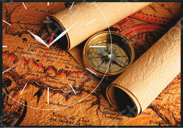 Часы-картина Вега КП-2 «Карта»