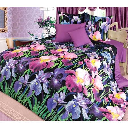 Купить Комплект постельного белья Королевское Искушение «Ирис». Тип ткани: сатин. Евро
