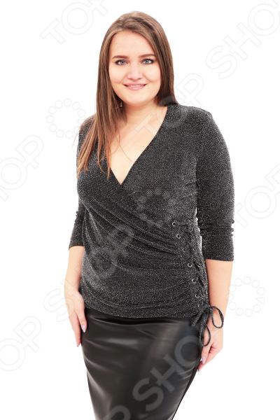 Блуза LORICCI «Цветомузыка». Цвет: серый