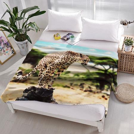 Купить Плед флисовый ТамиТекс «Дикая кошка»