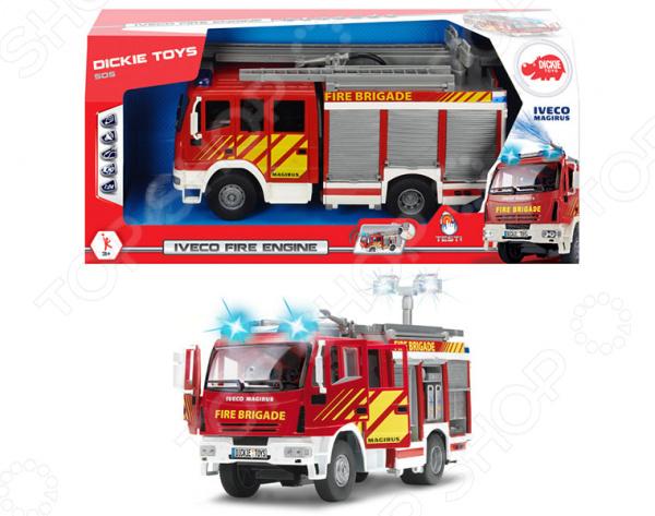 Машинка со светозвуковыми эффектами Dickie «Пожарная машина с водой» развивающая игрушка умка пожарная машинка со стихами м дружининой