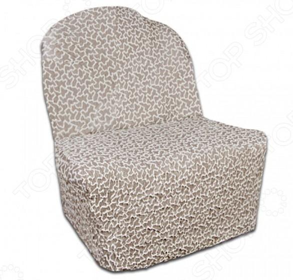 Натяжной чехол на кресло без подлокотников Еврочехол «Жаккард. Сильва» 2